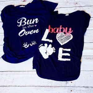 Maternity Clothes Graphic Tee Lot Large & Xlarge